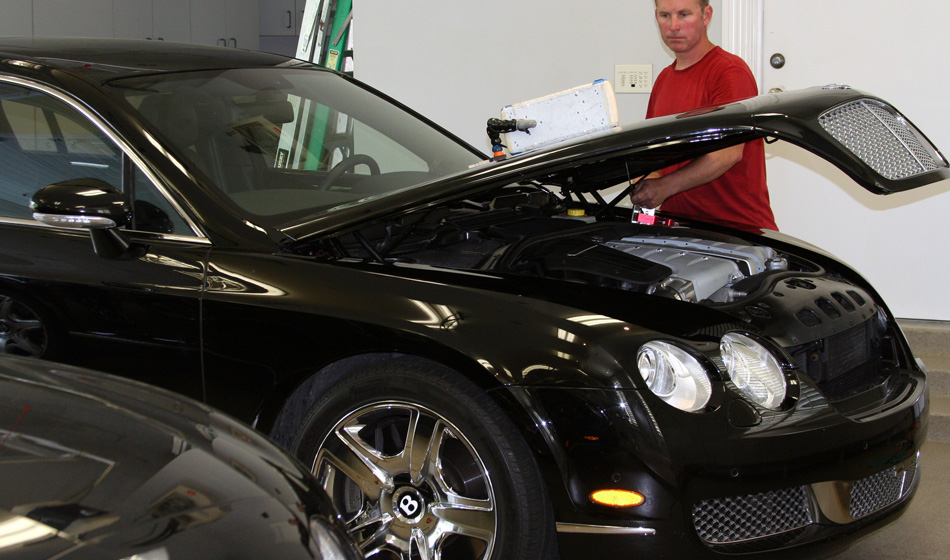 Paintless Dent Removal on Rolls Royce Bentley